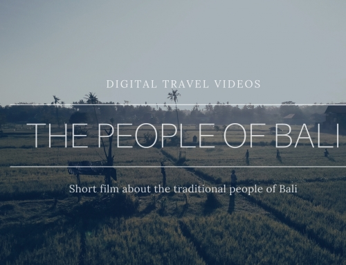 Travel video of the traditional Bali people
