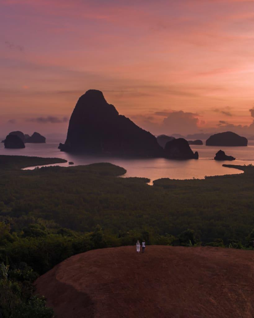 Phang-Nga-bay-Phuket-viewpoint-drone-couple