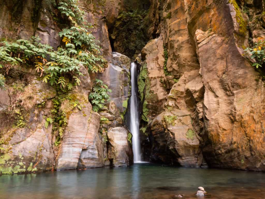 salto do cabrito waterfall azores