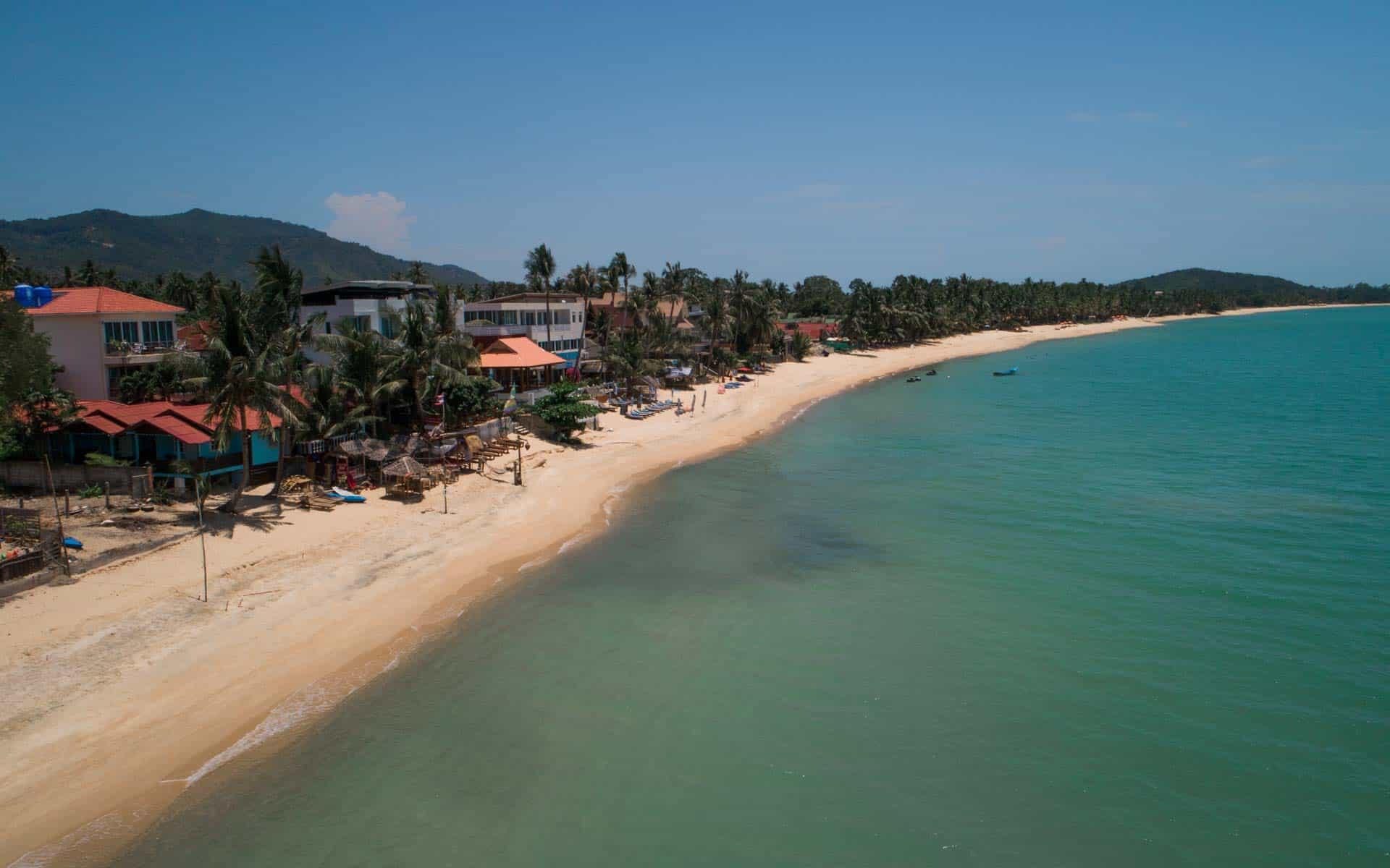 maenam-beach-koh-samui-drone
