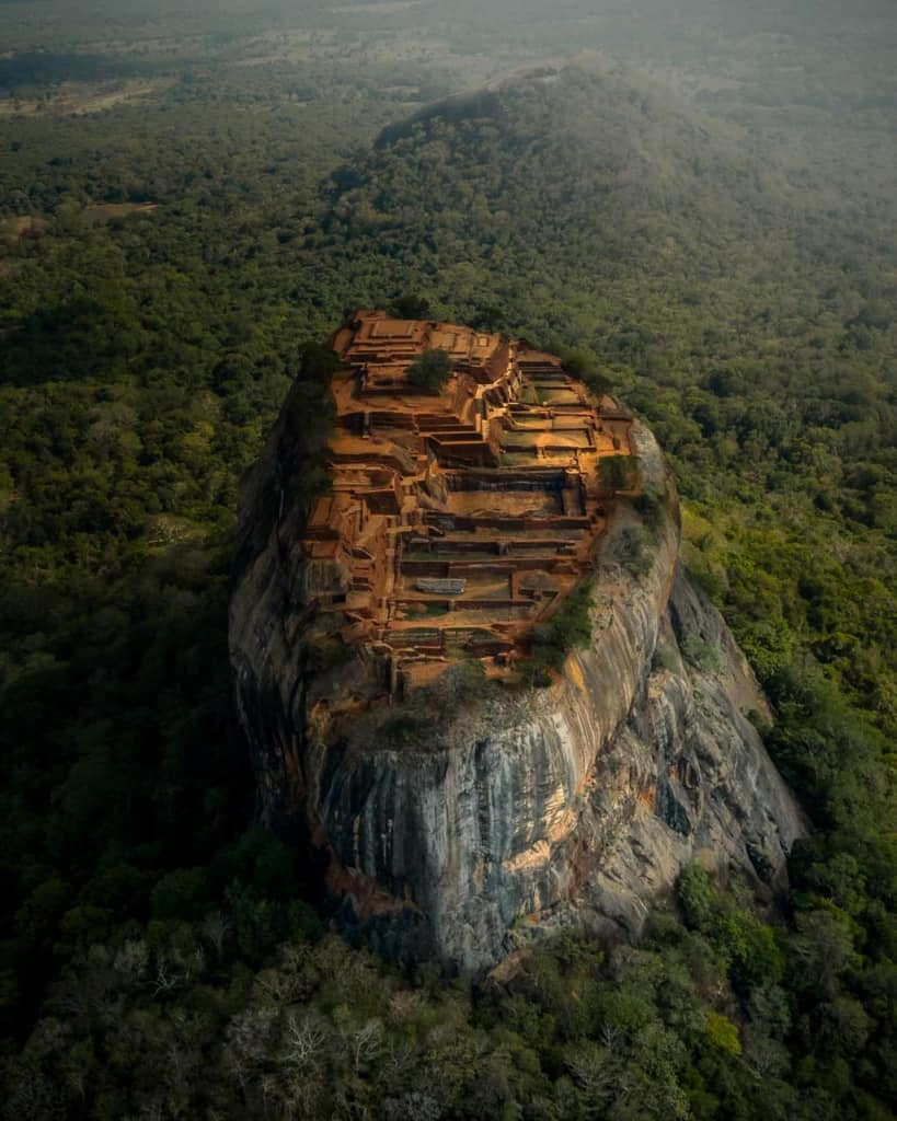 Sigiriya-lion-rock-drone-view