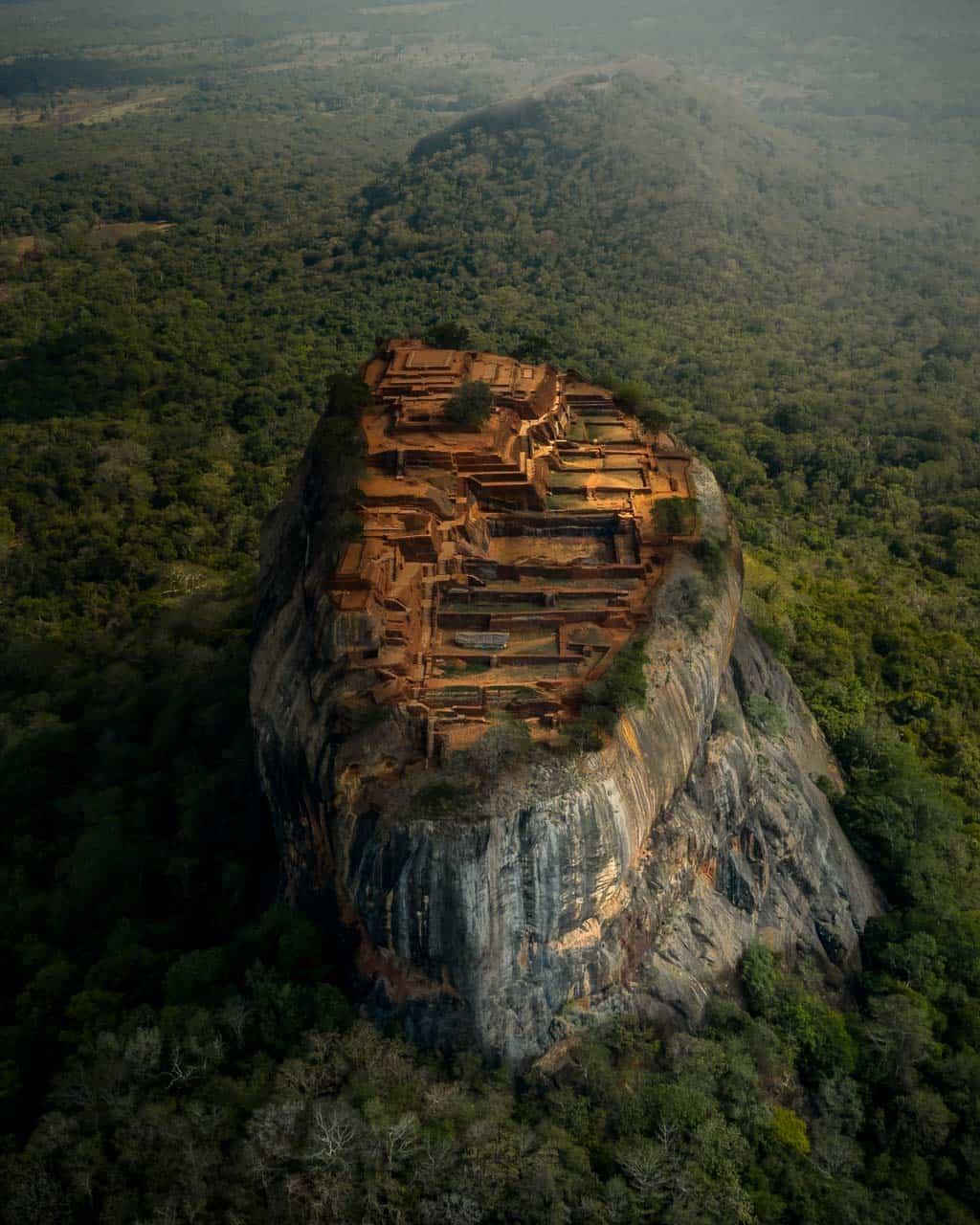 Sigiriya-lion-rock-drone-view