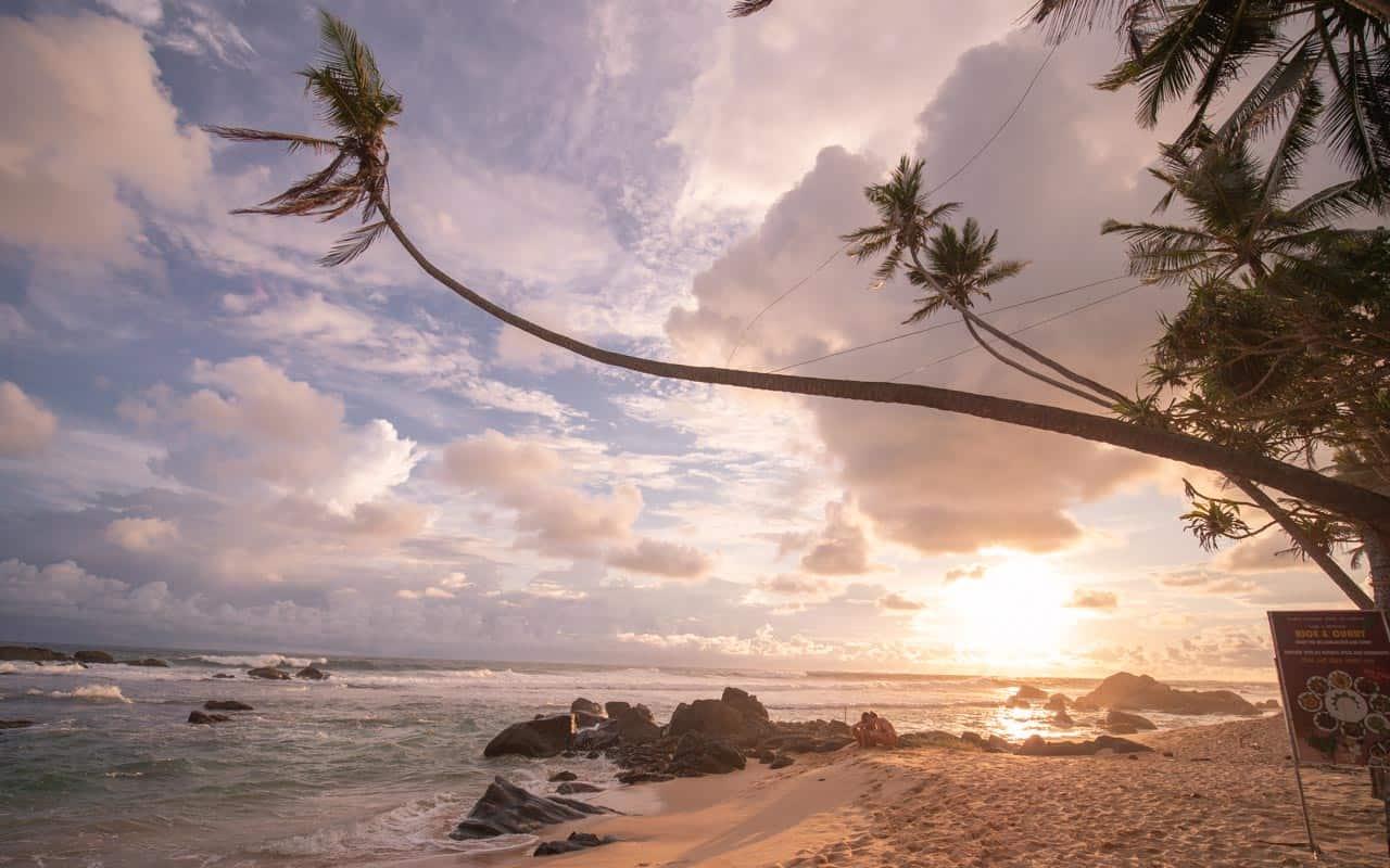 dalawella-beach-sri-lanka-sunset