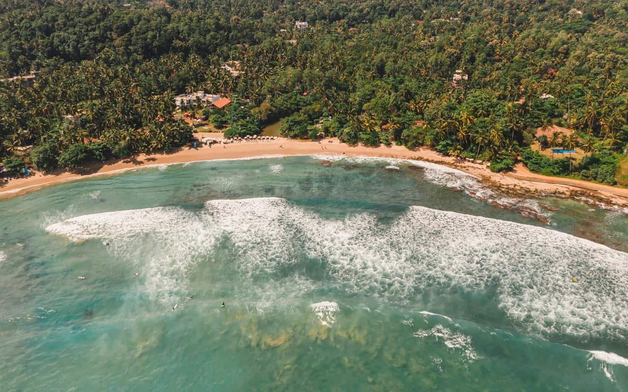 hiriketiya-beach-drone-close