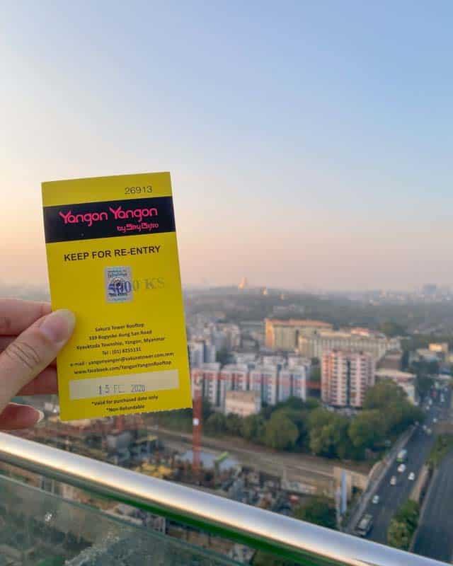 rooftopbar-yangon-ticket