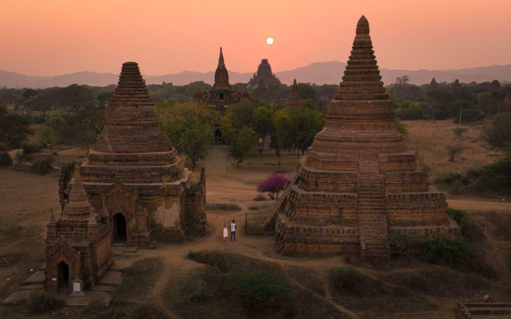 bagan-temple-pagoda-sunset-drone