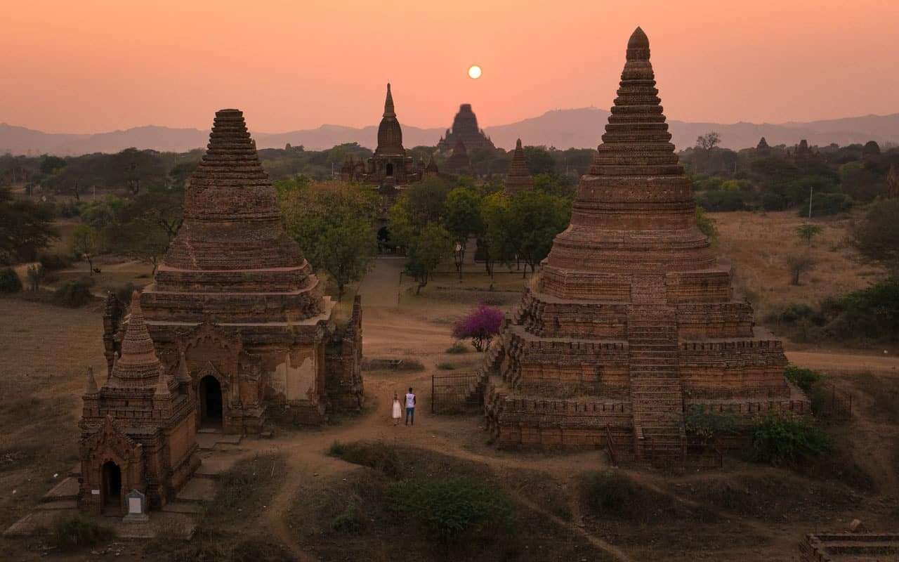 bagan-temple-pagoda-sunset-drone