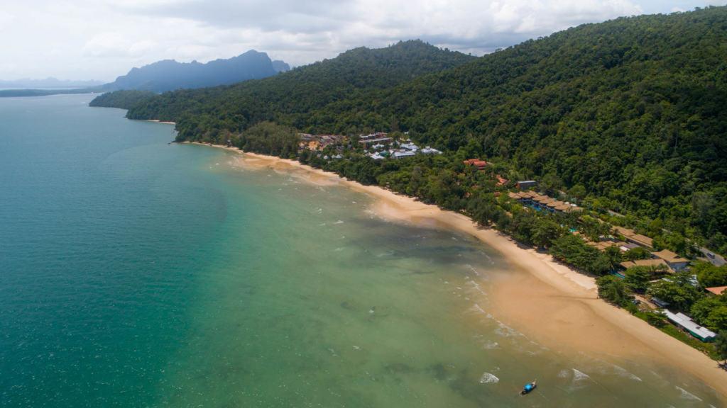 tubkaek-beach-drone-view
