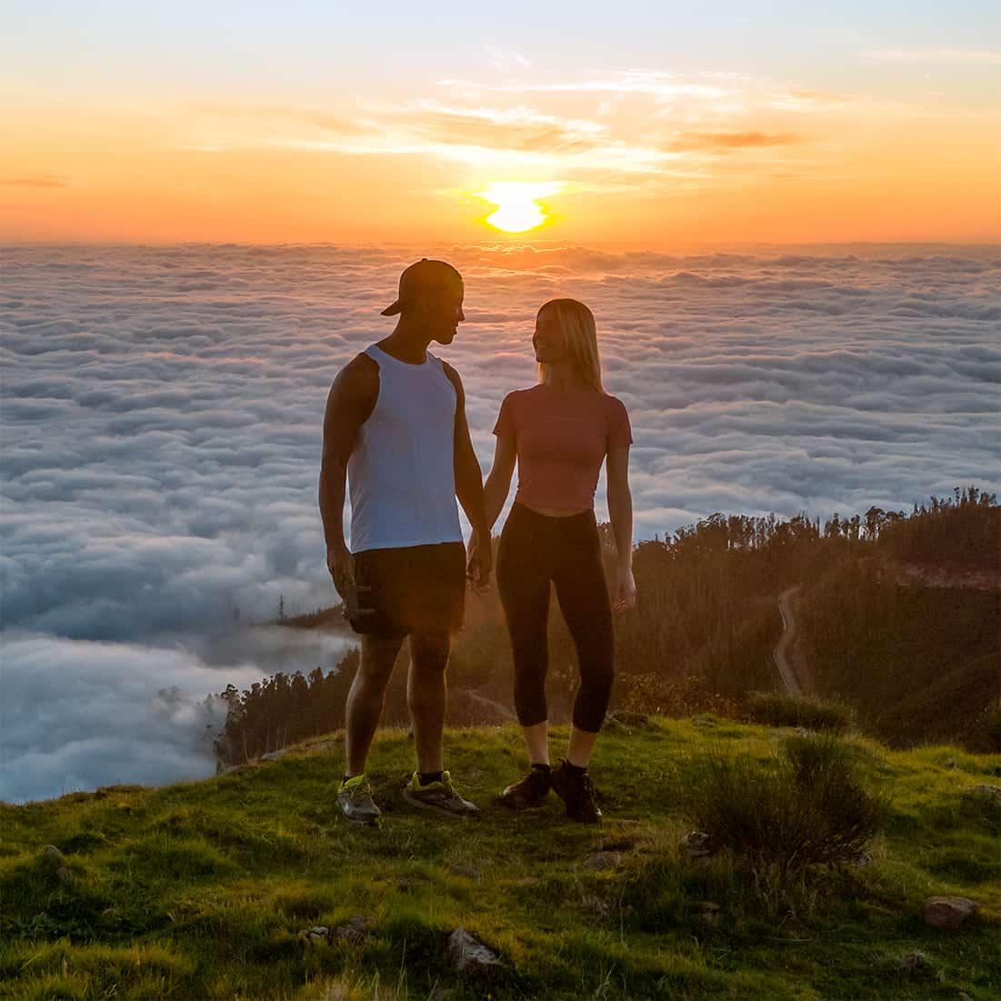Atiba&Ilse above the clouds
